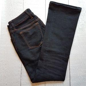 BR curvy boot-cut dark jeans